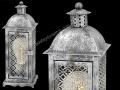 Gümüş Gri Klasik İşlemeli Masa Lambası