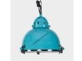 Chrome-Rimmed Turquoise pendant