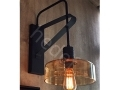 Orange Glass Sconce