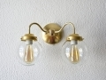 Gold Brass Wall Sconce Double