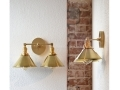 Wall Sconce Vanity Gold Brass 2 Bulb
