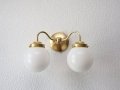 Double Gold Brass Wall Sconce