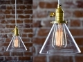 Brass Gold Pendant Light With