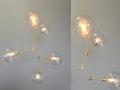 5-Globe Brass Constell Chandelier Lighting