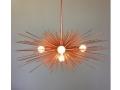5-Bulb Copper Urchin Chandelier Lighting