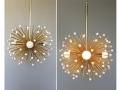 3-Bulb White Beaded Urchin Pendant Lighting