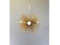 3-Bulb Gold Urchin Chandelier Lighting