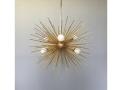 6-Bulb Gold Urchin Sphere Chandelier Lighting