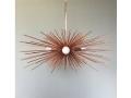 3-Bulb Copper Urchin Chandelier Lighting