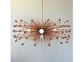 5-Bulb Copper Beaded Urchin Chandelier Lighting
