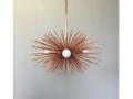 3-Bulb Copper Mini Urchin Chandelier Lighting