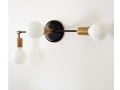 Triple Wall Sconce Brass Fixture