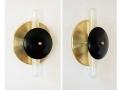 Modern Wall Fixture Brass Black Sconce