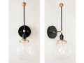 Mid Century Inspired Wall Black Sconce