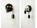 Double Wall Sconce Black Lamp Modern Wall Lighting