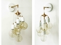 Wall Cluster Sconce Brass White Fixture Sconce