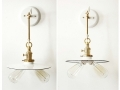 White and Gold Double Wall Sconce