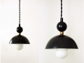 Retro Black Pendant