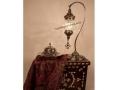 Osmanlı Metal Aksamlı Masa Lambası