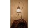 Osmanlı İşleme Camlı Kuğu Masa Lambası