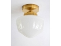 8 Inch Schoolhouse Semi-Flush Or Pendant