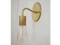 Curved Arm Brass Wall Sconce