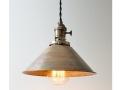 Industrial Brass Cone Pendant Light