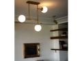 Three Ball Brass Ceiling