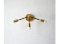 Wall Sconce Black and Gold Brass
