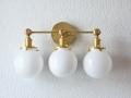 Vanity Light Three Globe Wall Sconce