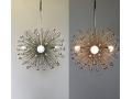 3-Bulb Silver Beaded Urchin Pendant Lighting