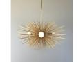 3-Bulb Gold Mini Urchin Chandelier Lighting