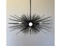 3-Bulb Black Urchin Chandelier Lighting