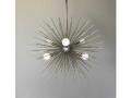 6-Bulb Silver Urchin Sphere Chandelier Lighting