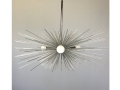 3-Bulb Silver Urchin Chandelier Lighting