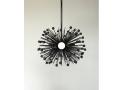 3-Bulb Black Beaded Urchin Pendant Lighting