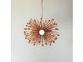 3-Bulb Copper Crystal Beaded Urchin Pendant Lighting
