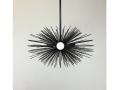 3-Bulb Black Mini Urchin Chandelier Lighting