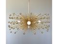 5-Bulb Gold Beaded Urchin Chandelier Lighting