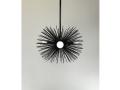 3-Bulb Black Urchin Pendant Lighting