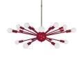 Red Elliptical Sputnik Chandelier 32