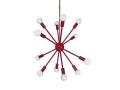 Red Spherical Sputnik Chandelier 24