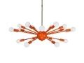 Orange Elliptical Sputnik Chandelier 32