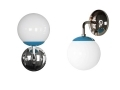 Light Blue Capped Globe Sconce Lighting