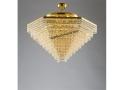 Sarı Kristal Pramit Avize