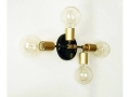 Quattro Brass and Black Modern Wall Sconce