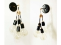 Quatro Wall Sconce Cluster Black Wall Lamp