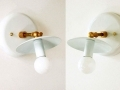 White Candelabra Wall Sconce