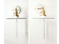 White Sconce Retro Wall Lamp Brass Wall Lighting