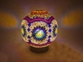 Renkli Mozaik Masa Lambası